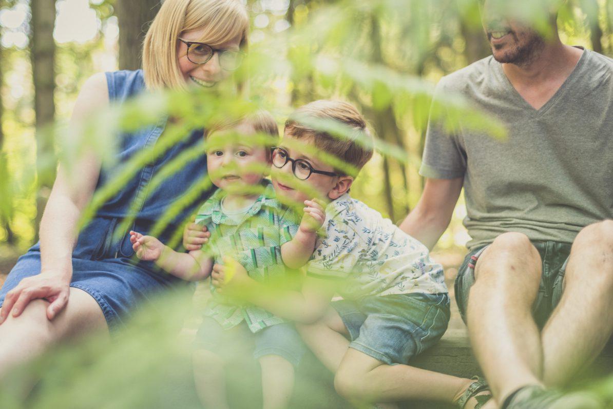 spontane familiefoto